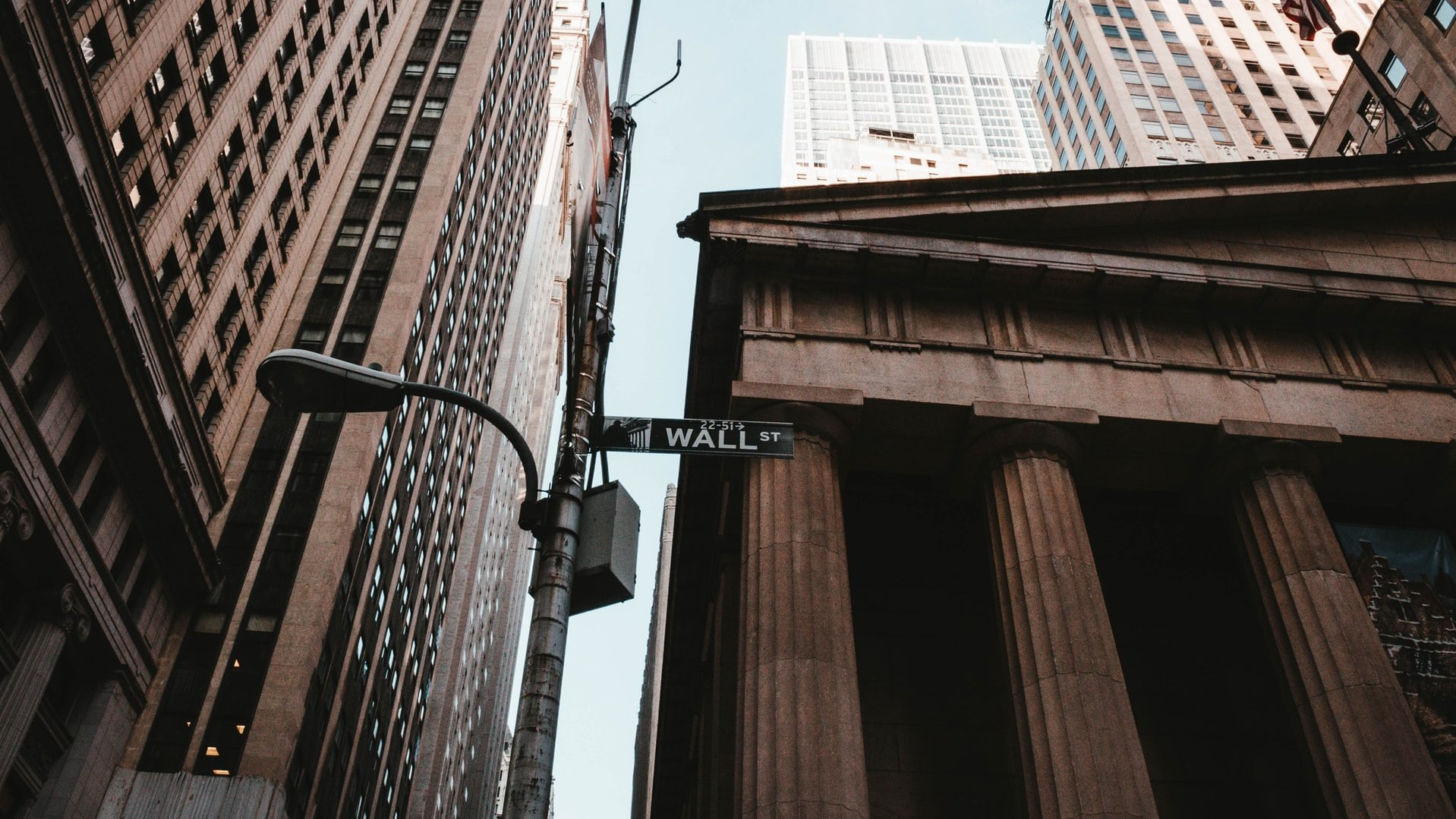 Wall Street, where stocks dropped sharply