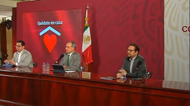 Deputy Minister of Health Hugo López-Gatell, Deputy Minister of Health Hugo López-Gatell and Health Promotion Head, Ricardo Cortés on today´s briefing