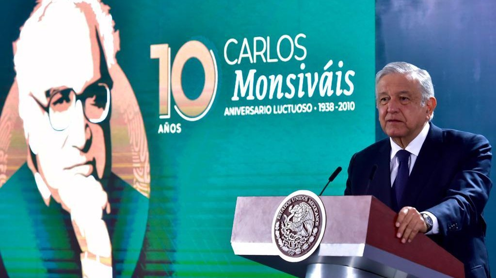 President López Obrador remembered writer Carlos Monsiváis in the 10th anniversary of his death.