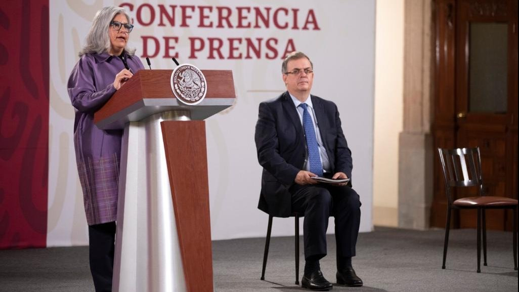 Minister of Economy Graciela Márquez and Minister of Foreign Affairs Marcelo Ebrard addressed the start of the USMCA trade treaty in today's briefing..