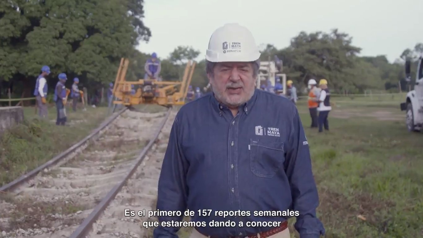 fonatur mayan train progress report video