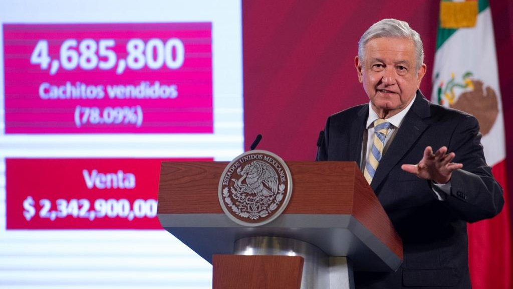 López Obrador during the Morning Press Conference