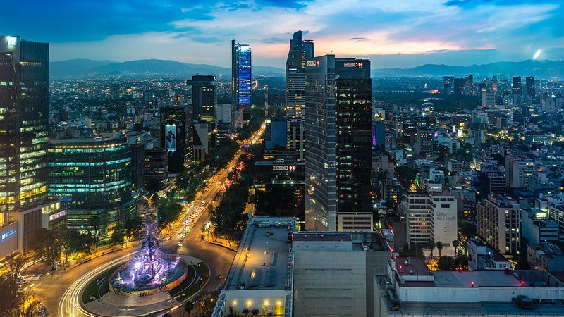 Mexico City at Dusk
