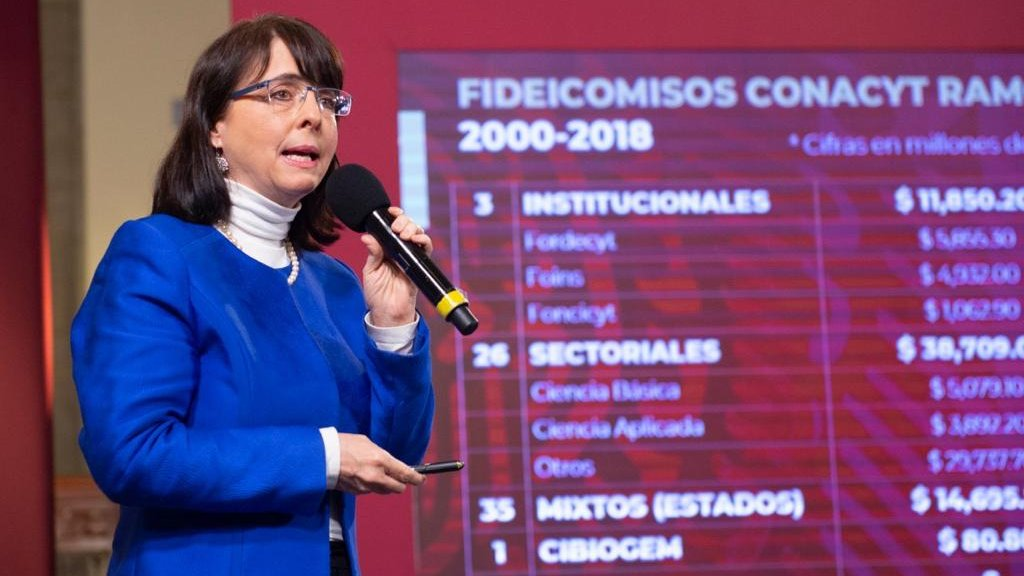 CONACYT head María Elena Álvarez-Buylla detailed a report on federal funds for science and technology, given during the last administration.