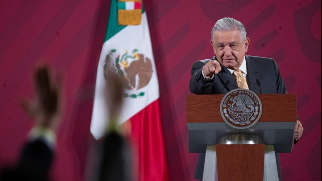 President López Obrador only took questions from reporters in today's briefing.